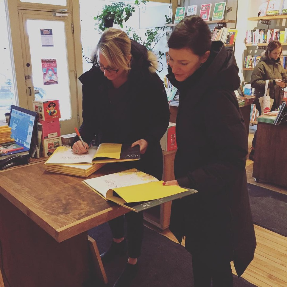 Isabelle Arsenault and Kirsten Hall visit and sign!