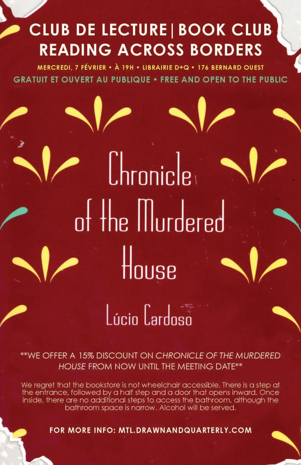 Reading Across Boarders Book Club: Chronicle of the Murdered House by Lúcio Cardoso