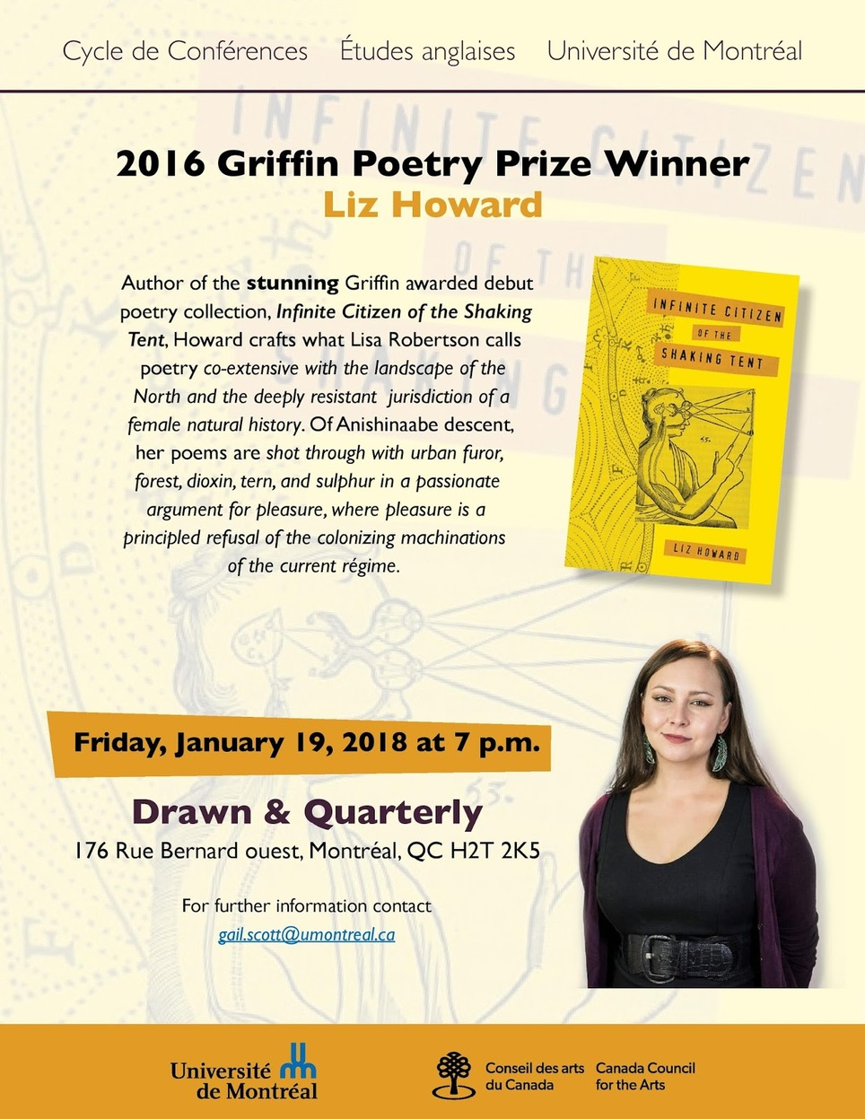 *TONIGHT* Liz Howard Poetry Reading